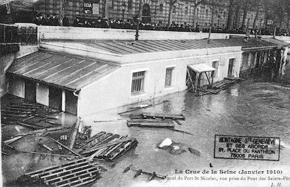 410 La crue de la Seine (janvier-février 1910) Octroi du port St-Nicolas
