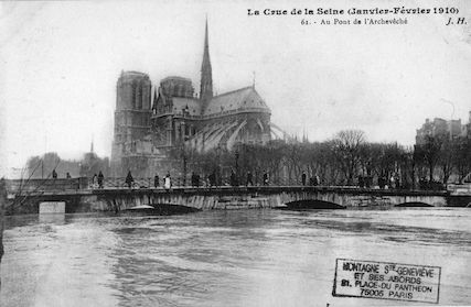 420A La crue de la Seine (janvier-février 1910) Au pont de l'Archevêché