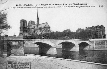421 Crue de la Seine (jan-fév 1910) Pont de l'Archevêché