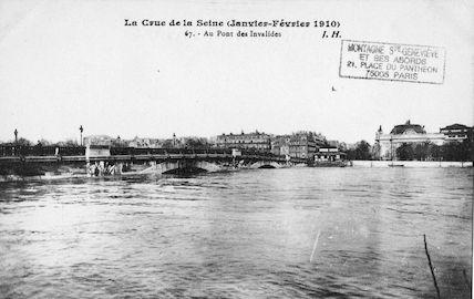 429 La crue e la Seine (janvier-février 1910) Au pont des Invalides
