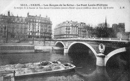 431 Crue de la Seine (jan-fév 1910) Pont Louis Philippe