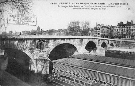 434 Crue de la Seine (jan-fév 1910) Pont Marie