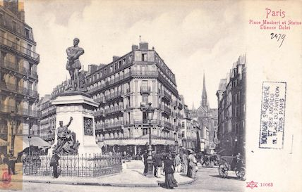 44  Place Maubert. Monument à Etienne Dolet