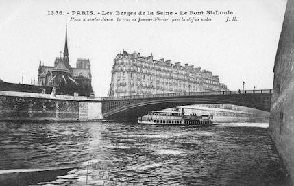 441 Crue de la Seine (jan-fév 1910) Pont St.Louis