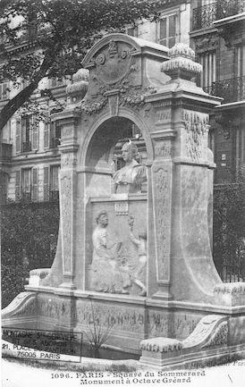 45 Square P. Painlevé (Sq. du Sommerard). Monument à Octave Gréard