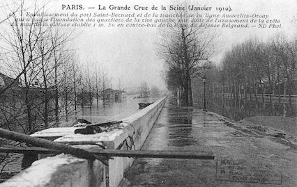 450 Crue de la Seine (jan 1910) Envahissement du port St Bernard