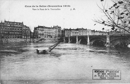 451 Crue de la Seine (Novembre 1910) Vers le pont de la Tournelles