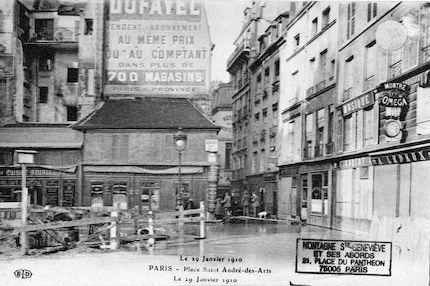 453 Place Saint André-des-Arts le 29 janvier 1910