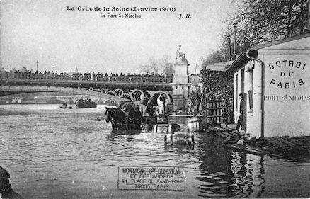 458B La crue de la Seine (janvier1910) Le port St. Nicolas