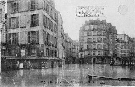 462 Paris-Venise. Inondations 1910. Quai Montebello