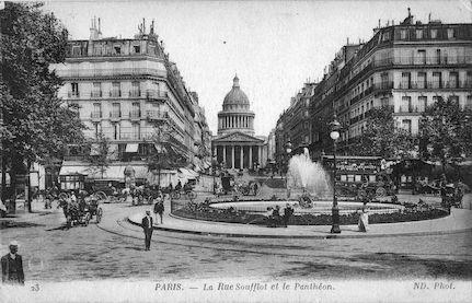 475-recto La rue Soufflot et le Panthéon