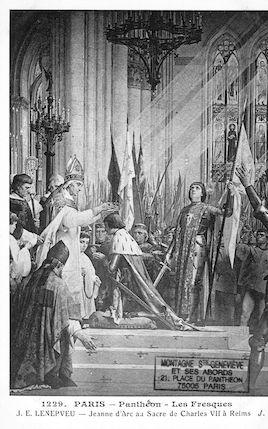 483 Panthéon. Les fresques (J.E. Lenepveu) Jeanne d'Arc au sacre de Charles VII à Reims