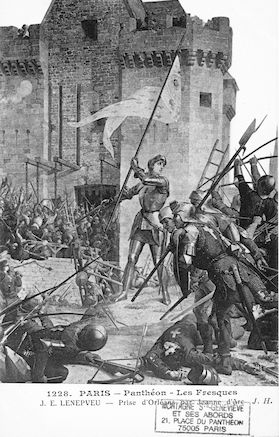 484 Panthéon. Les Fresques (J.E. Lenepveu) Prise d'Orléans par Jeanne d'Arc