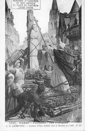 485 Panthéon. Les Fresques ( J.E.Lenepveu) Jeanne d'Arc brulée vive à Rouen en 1431