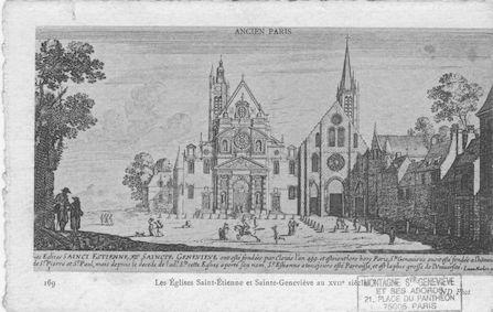 486 Les églises Saint Etienne-du-Mont et Sainte Geneviève au XVIIè s