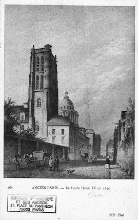 487Ancien Paris. Le lycée Henri IV En 1830