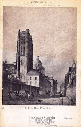 488 Ancien Paris. Le Lycée Henri IV en 1830