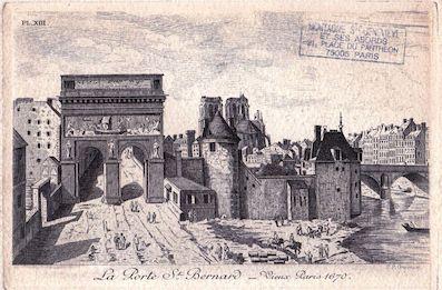 490 La porte Saint Bernard Vieux Paris 1670