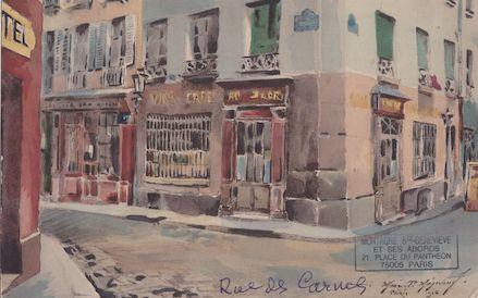 491-recto Rue des Carmes. le Cabaret au Sabot d'or au n° 32 (1915 ou 1925)