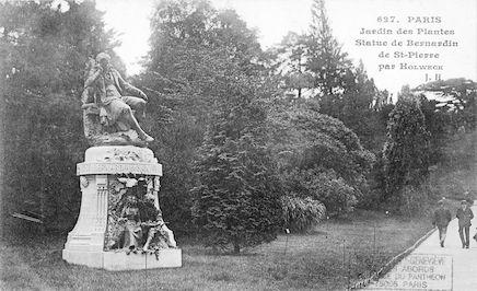 495 Jardin des plantes. Statue de Bernardin de St.Pierre