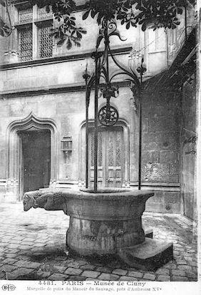 512 Musée de Cluny. Margelle du puits du Manoir du Sauvage près d'Ambroise. XVè