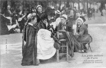 521 Les p'tits métiers de Paris Nos jardins publics. Souvenirs de nounous.