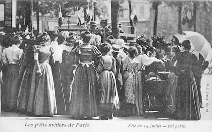 528 les p'tits métiers de Paris. Fête du 14 juillet. Bal public