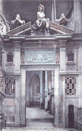 538 Saint Etienne du Mont. Porte de Jubé