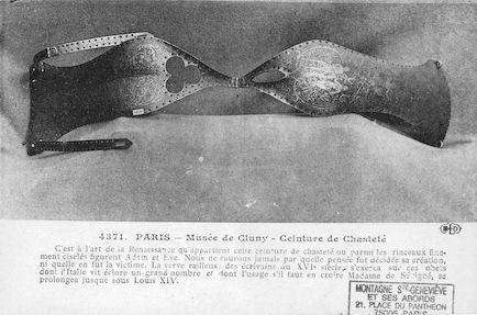 54  Musée de Cluny. Ceinture de chasteté