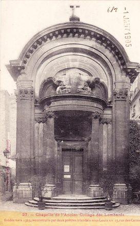 541 Chapelle de l'ancien collège des Lombards, rue des Carmes