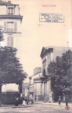 552 Ancienne académie de médecine. Boulevard St Germain, rue des Saints Pères