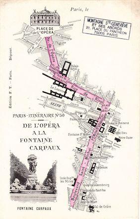 554 Paris-Itinéraire n° 30  De l'Opéra à la Fontaine Carpaux