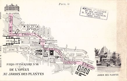 556 Paris -Itinéraire n°16. De l'Opéra au Jardin des plantes