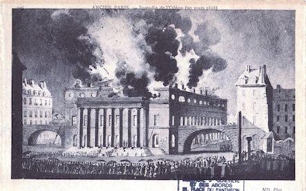 561 Incendie de l'Odéon 20 mars 1818