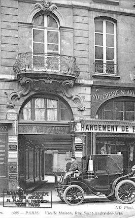 564 vieille maison, 27 rue St André-des-Arts