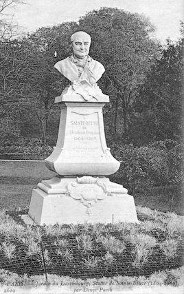 578 Jardin du Luxembourg. Statue de Sainte-Beuve par Denys Puech