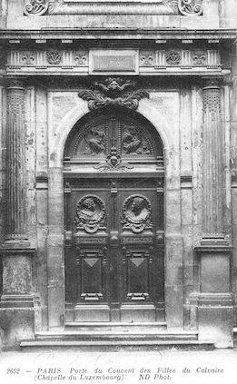 585 Porte du convent des Filles-du-Calvaire (Chapelle du Luxembourg)