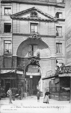 590 Porte de la cour du Dragon, rue de Rennes