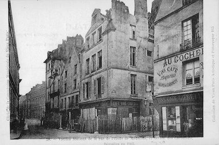 599 Vieilles maisons rue de l'Ecole de Médecine (les cordeliers), démolies en 1903