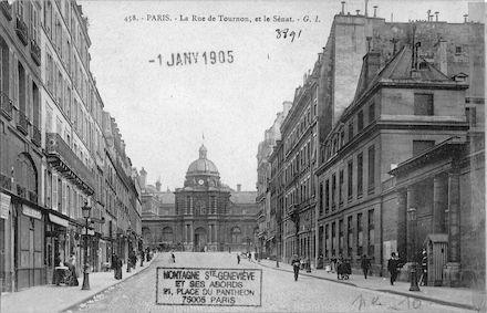 601 La rue de Tournon, le Sénat