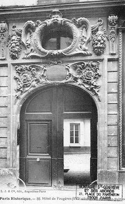 605 Hôtel de Fougère (XVIe siècle) Rue Saint Sulpice