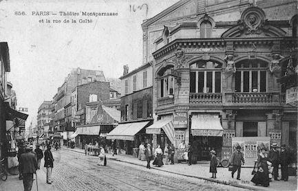610 Théâtre Montparnasse et la rue de la Gaité