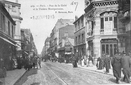 611 Rue de la Gaité et théâtre Montparnasse