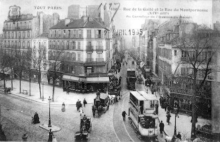613 Rue de la Gaité et la rue du Montparnasse