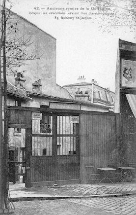 616 Ancienne remise de la guilotine, 83 faubourg St. Jacques