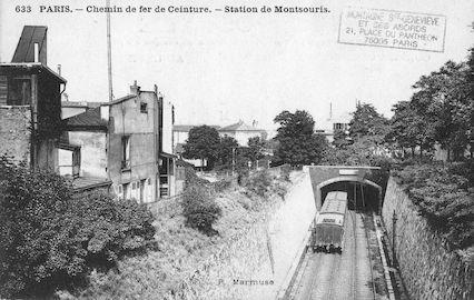 626 Chemin de fer de Ceinture. Station Montsouris