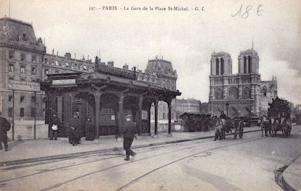 630 La gare de la place Saint Michel