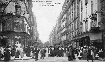 649 Rue Mouton-Duvernet et avenue d'Orléans un jour de fête.