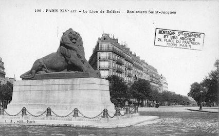 658 Le Lion de Belfort. Boulevard Saint Jacques