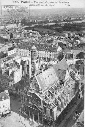 66 Eglise St Etienne du mont vue aérienne depuis le Panthéon